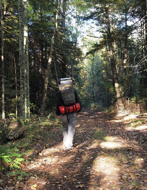 Image of The Vargo Ti-Arc Backpack, on person